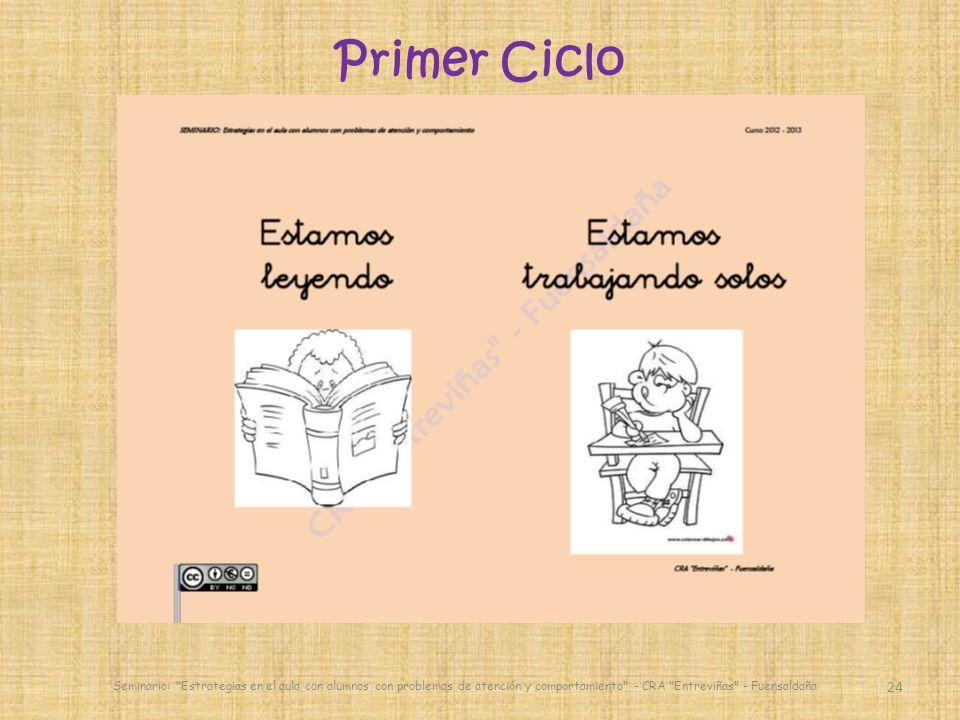 Primer Ciclo Seminario: Estrategias en el aula con alumnos con problemas de atención y comportamiento - CRA Entreviñas - Fuensaldaña.