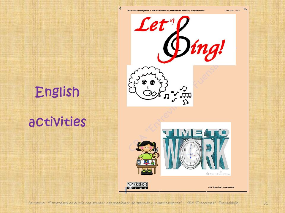 English activities.