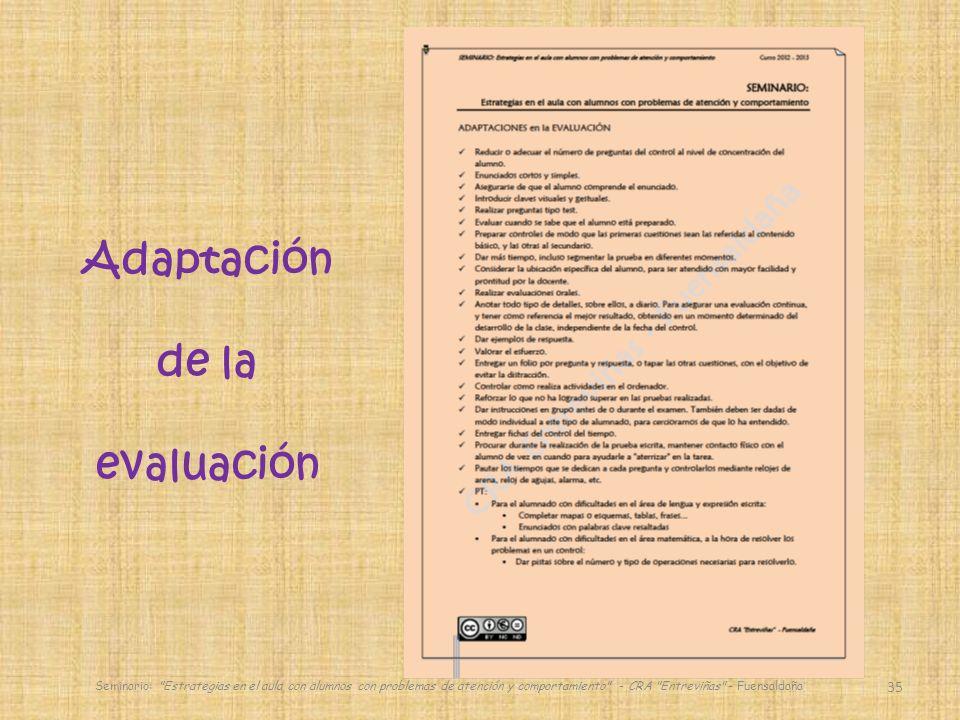 Adaptación de la evaluación