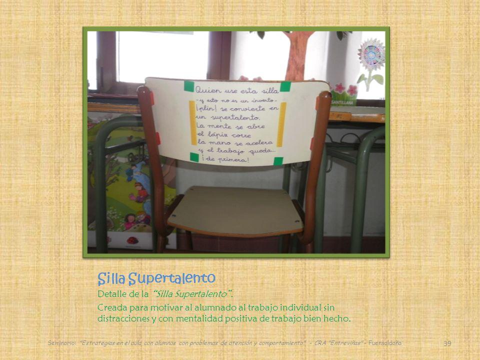 Silla Supertalento Detalle de la Silla Supertalento .