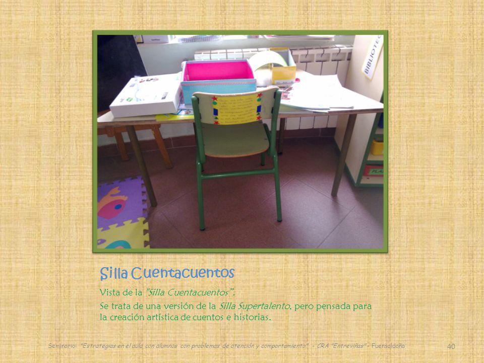 Silla Cuentacuentos Vista de la Silla Cuentacuentos .