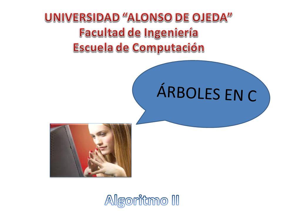 ÁRBOLES EN C UNIVERSIDAD ALONSO DE OJEDA Facultad de Ingeniería