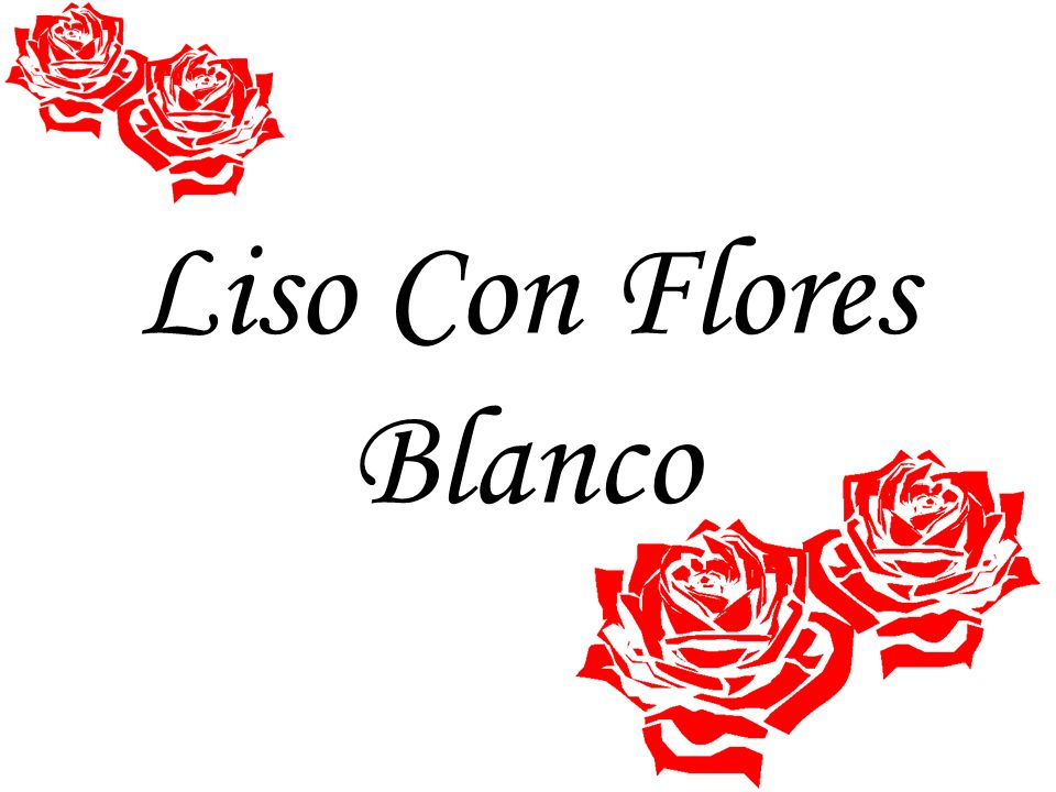 Liso Con Flores Blanco