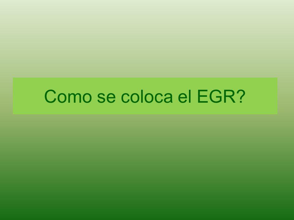 Como se coloca el EGR