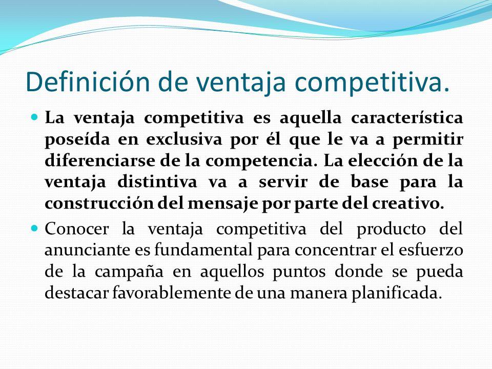 Definición de ventaja competitiva.
