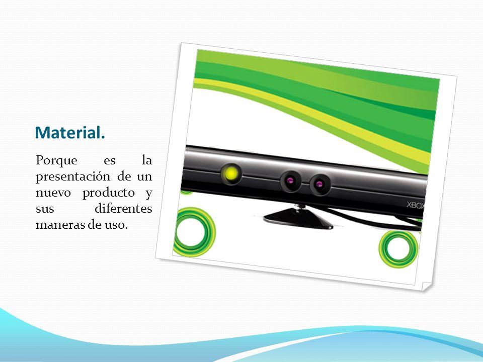 Material. Porque es la presentación de un nuevo producto y sus diferentes maneras de uso.