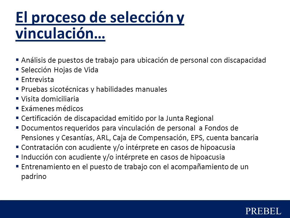El proceso de selección y vinculación…