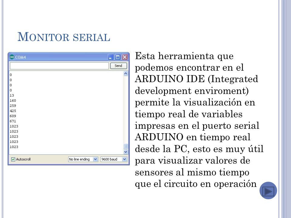 Monitor serial