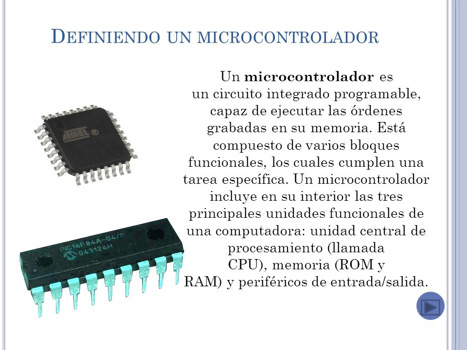 Definiendo un microcontrolador