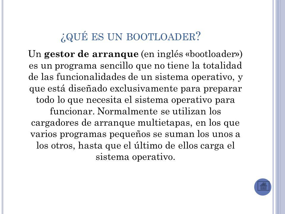 ¿qué es un bootloader