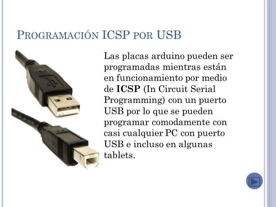 Programación ICSP por USB