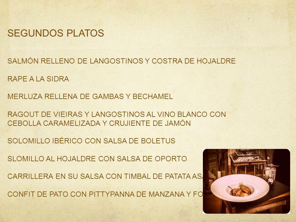 SEGUNDOS PLATOS SALMÓN RELLENO DE LANGOSTINOS Y COSTRA DE HOJALDRE