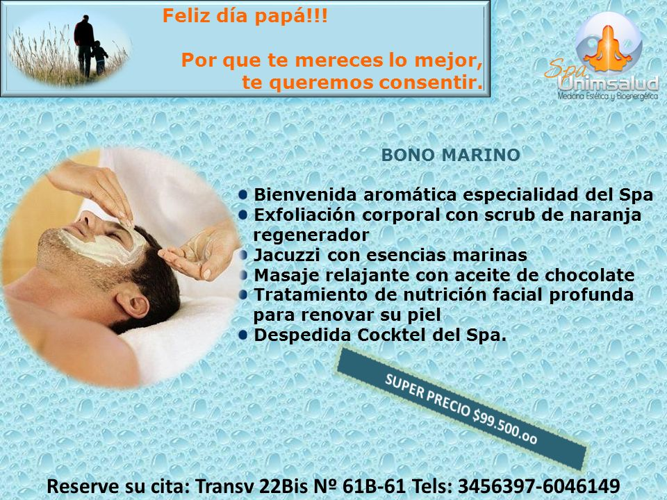 Reserve su cita: Transv 22Bis Nº 61B-61 Tels: 3456397-6046149