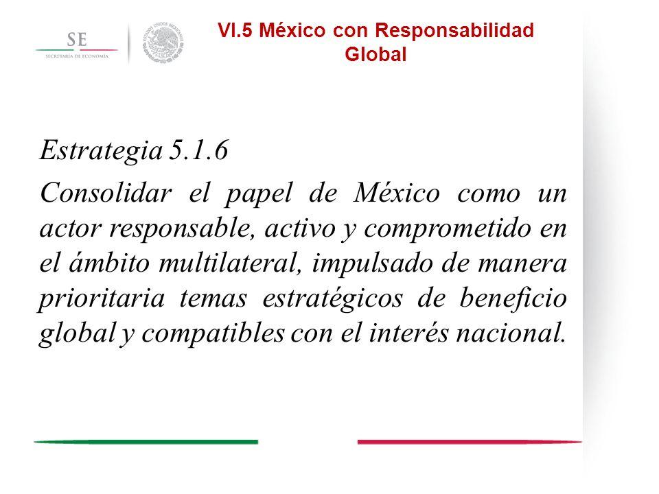 VI.5 México con Responsabilidad Global