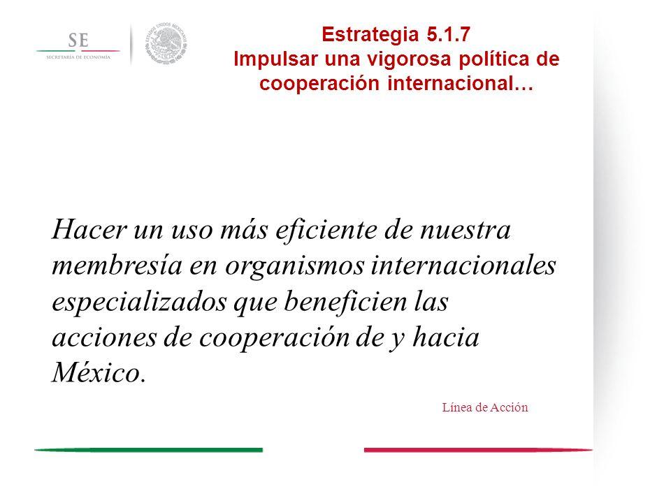 Impulsar una vigorosa política de cooperación internacional…