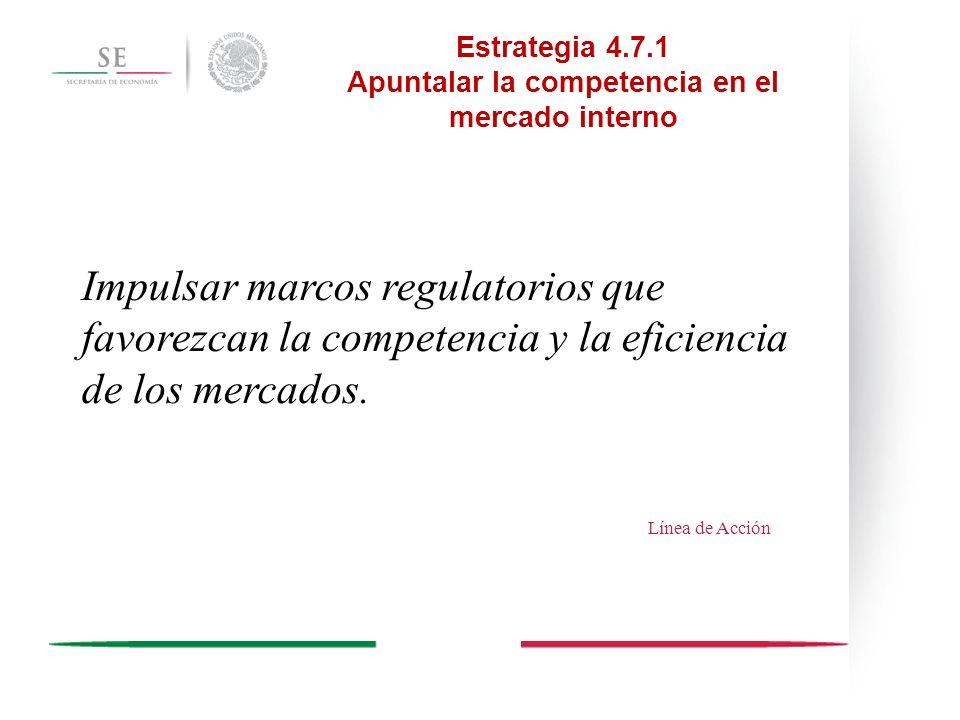 Estrategia 4.7.1 Apuntalar la competencia en el mercado interno