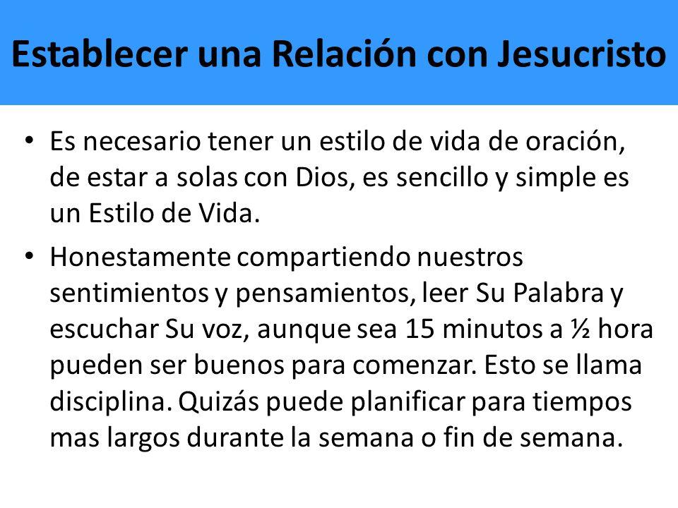 Establecer una Relación con Jesucristo