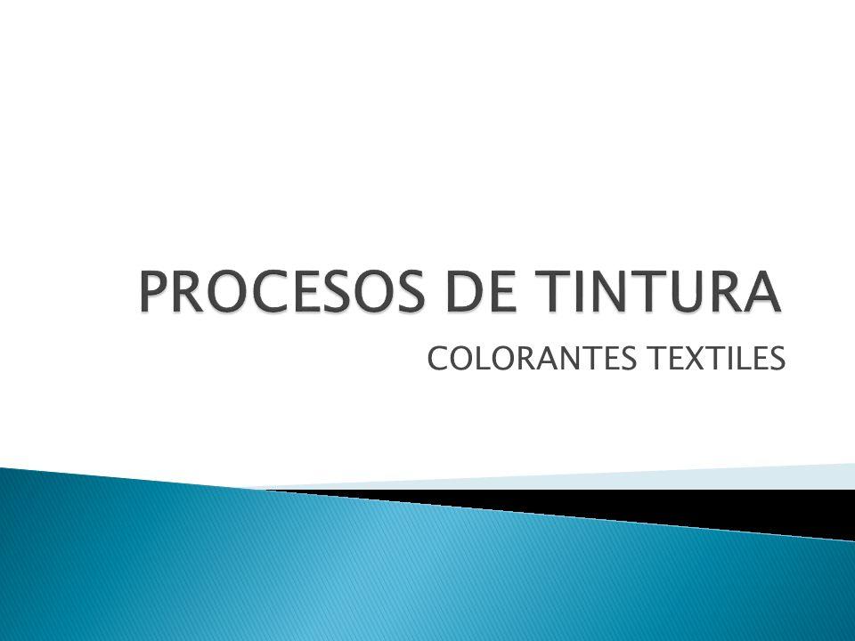 PROCESOS DE TINTURA COLORANTES TEXTILES