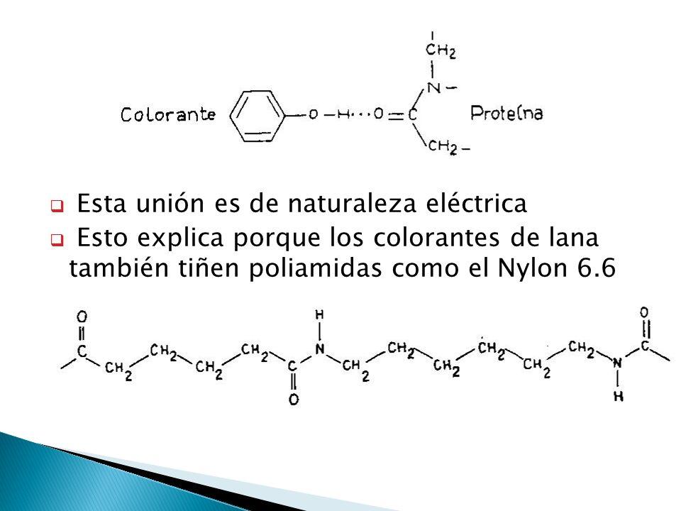 Esta unión es de naturaleza eléctrica