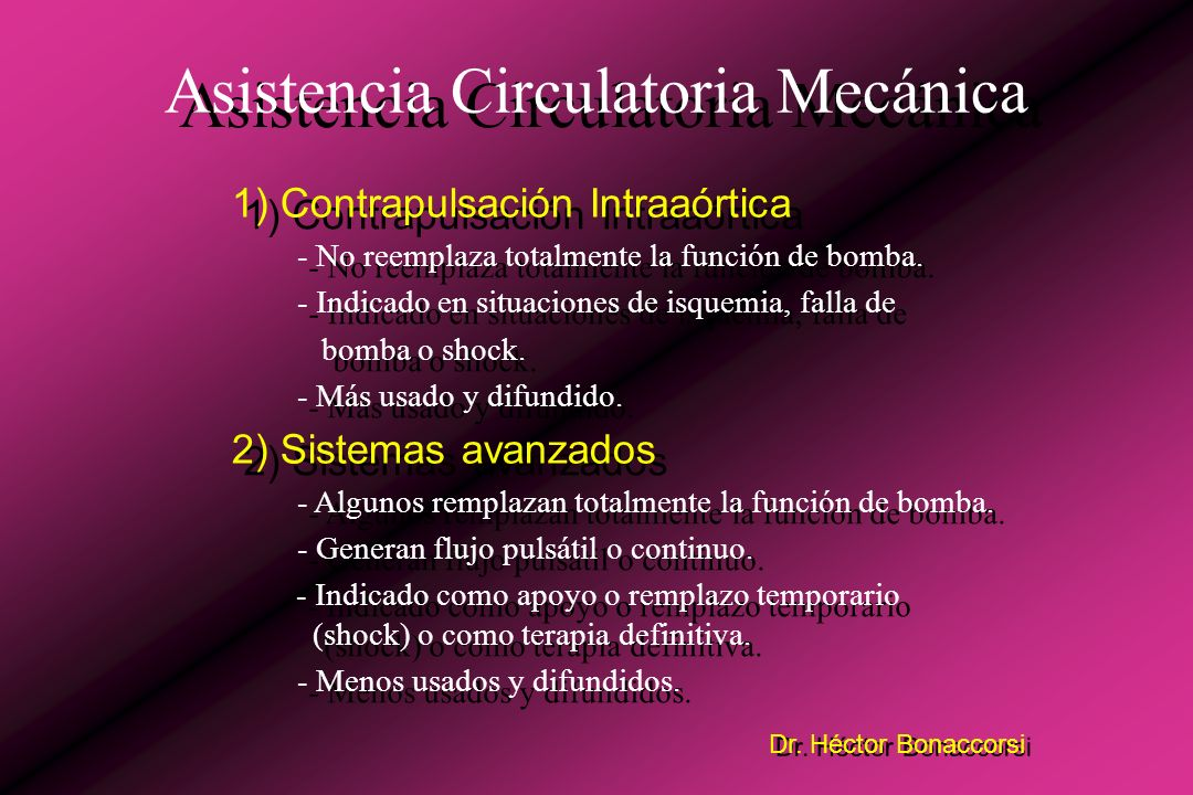 Asistencia Circulatoria Mecánica