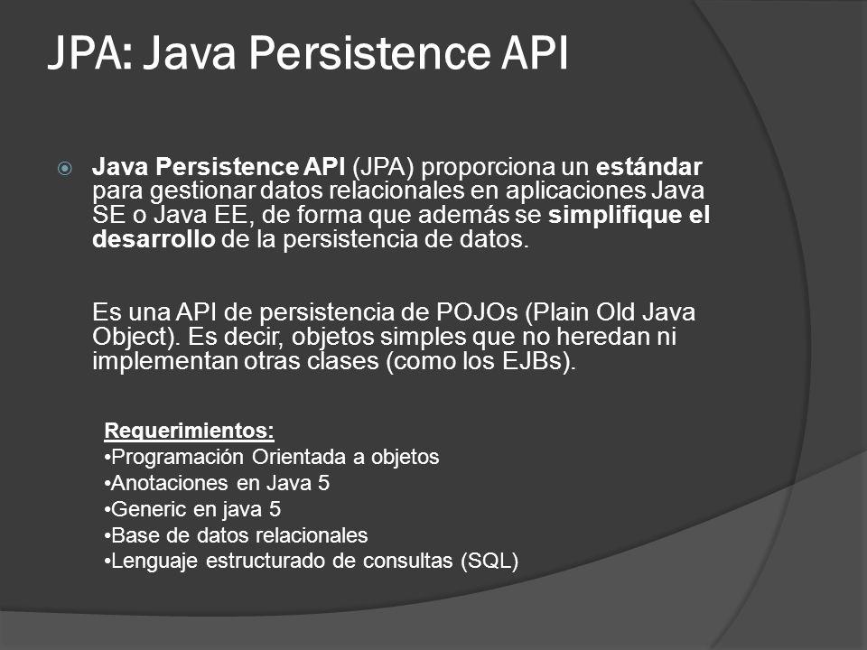 JPA: Java Persistence API