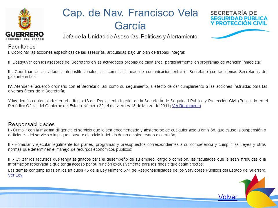 Cap. de Nav. Francisco Vela García