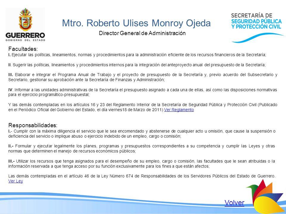 Mtro. Roberto Ulises Monroy Ojeda