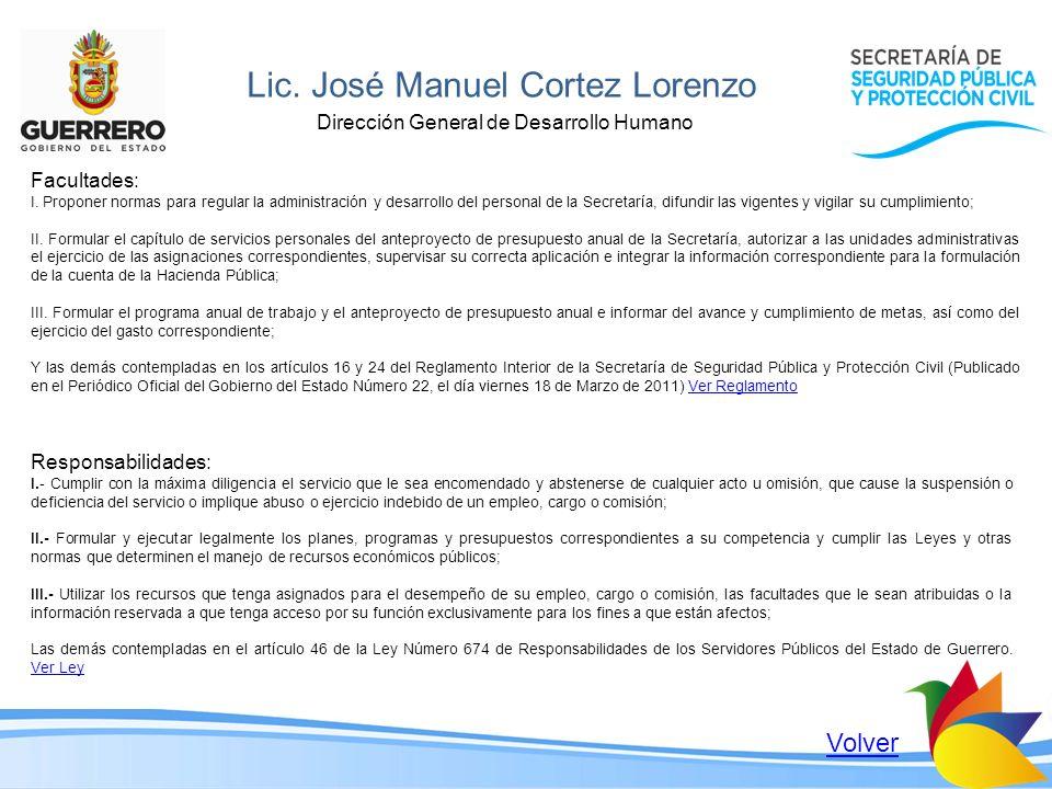 Lic. José Manuel Cortez Lorenzo