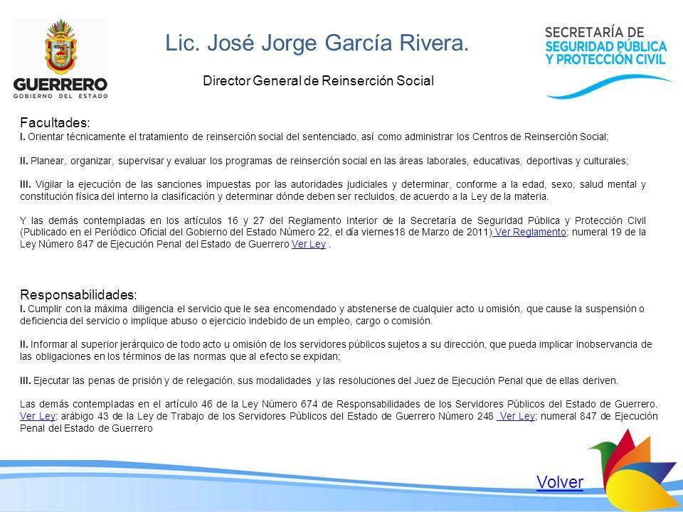 Lic. José Jorge García Rivera.
