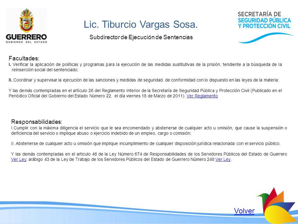 Lic. Tiburcio Vargas Sosa.