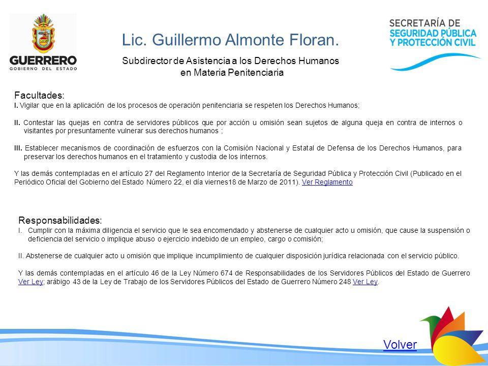 Lic. Guillermo Almonte Floran.