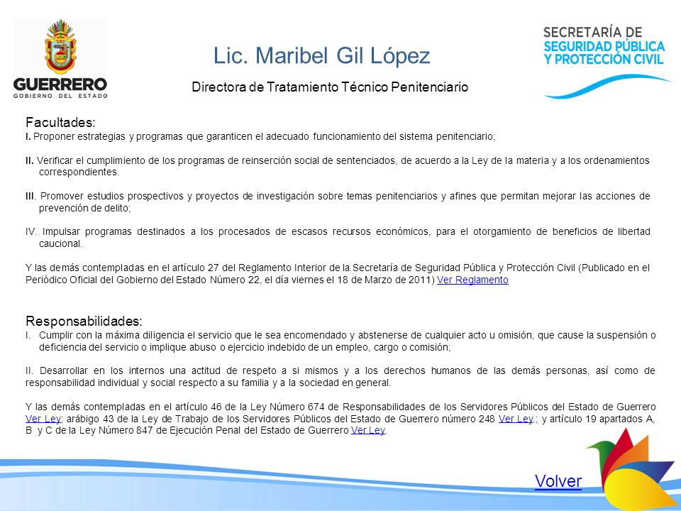 Lic. Maribel Gil López Volver