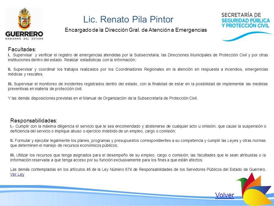 Lic. Renato Pila Pintor Volver