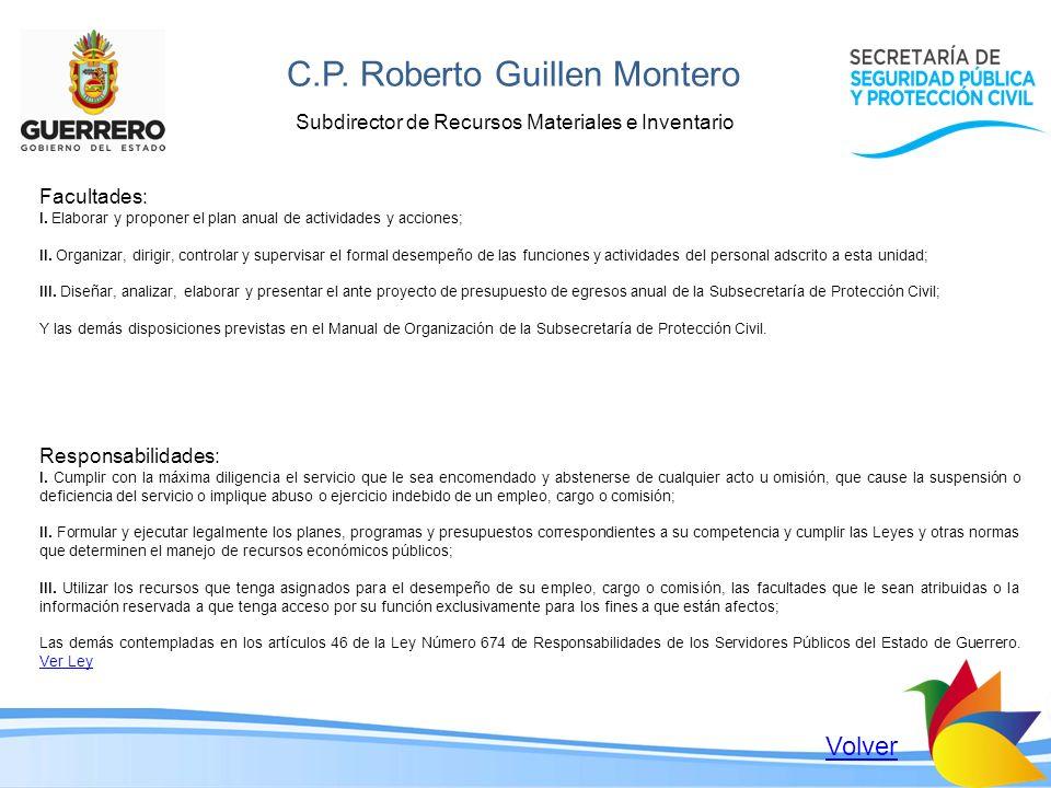 C.P. Roberto Guillen Montero