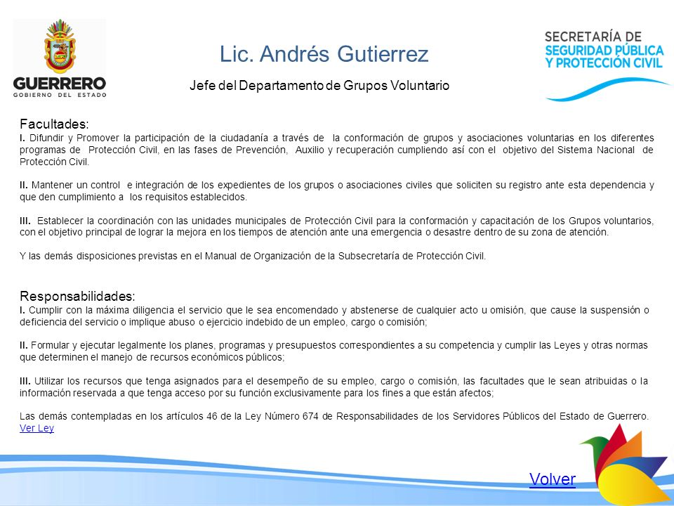 Lic. Andrés Gutierrez Volver