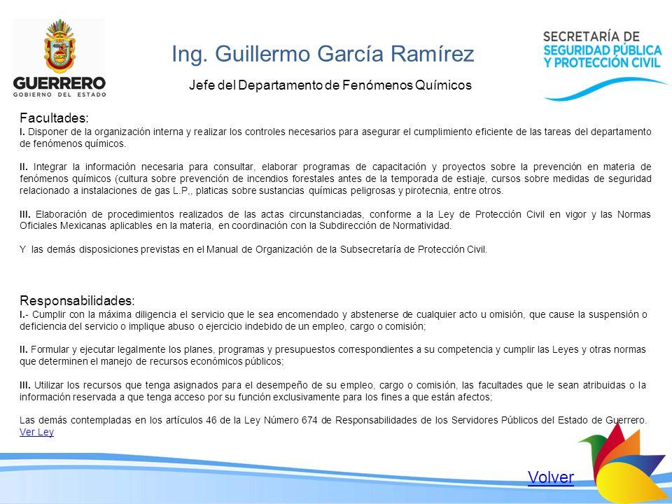 Ing. Guillermo García Ramírez