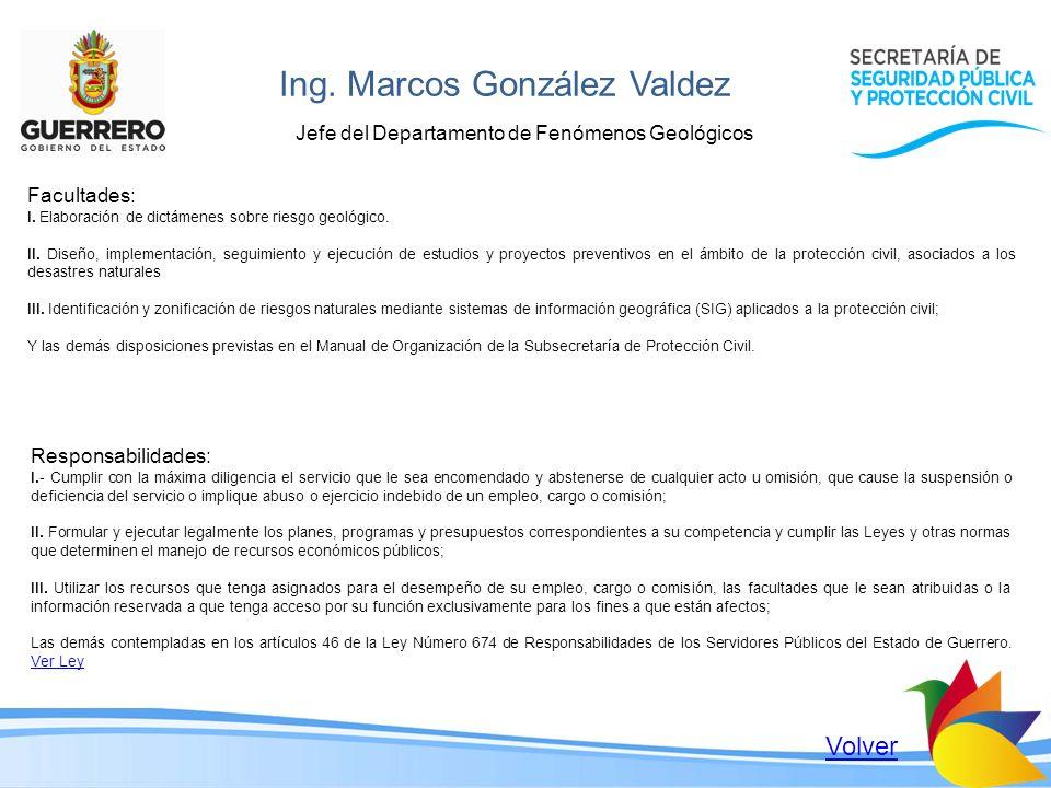 Ing. Marcos González Valdez