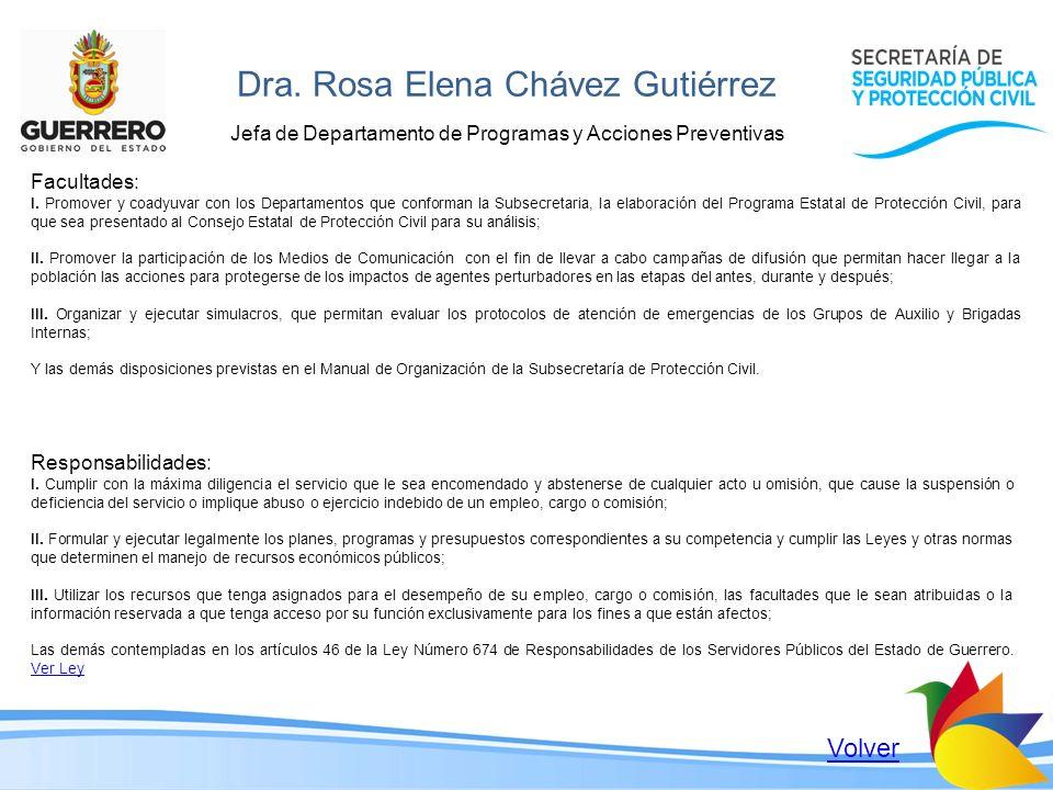 Dra. Rosa Elena Chávez Gutiérrez
