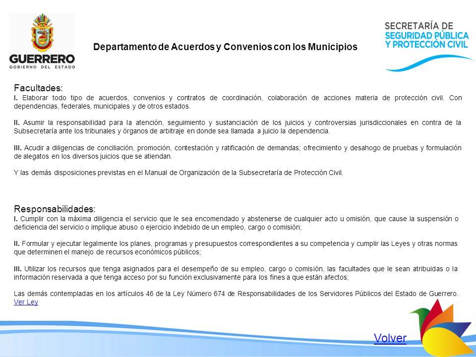 Volver Departamento de Acuerdos y Convenios con los Municipios