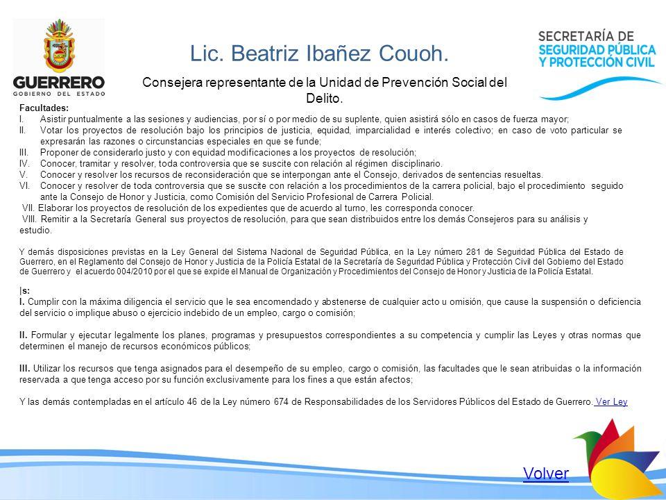 Lic. Beatriz Ibañez Couoh.