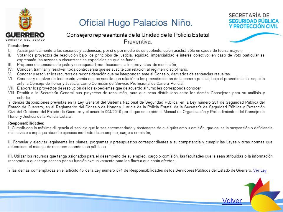 Oficial Hugo Palacios Niño.
