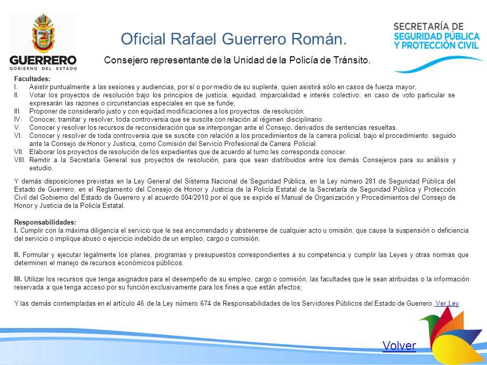 Oficial Rafael Guerrero Román.