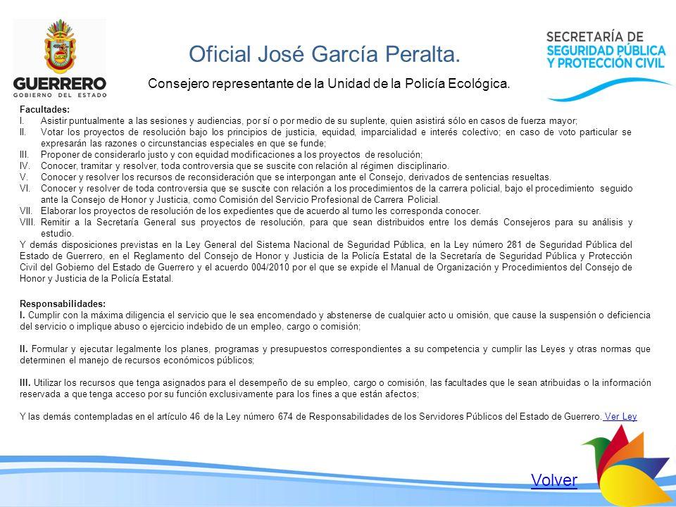 Oficial José García Peralta.