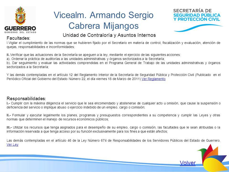 Vicealm. Armando Sergio Cabrera Mijangos