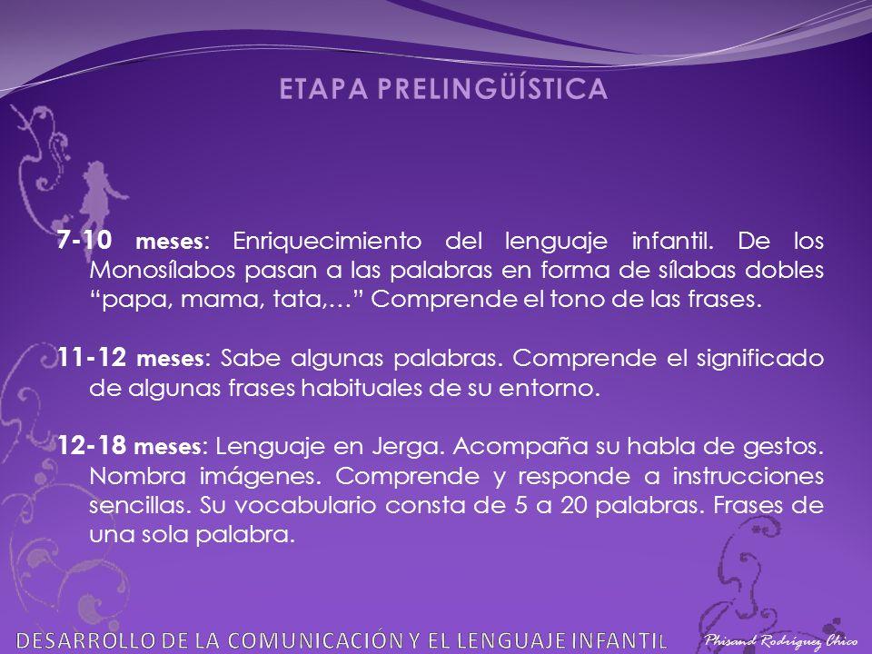 ETAPA PRELINGÜÍSTICA Phisand Rodríguez Chico. DESARROLLO DE LA COMUNICACIÓN Y EL LENGUAJE INFANTIL.