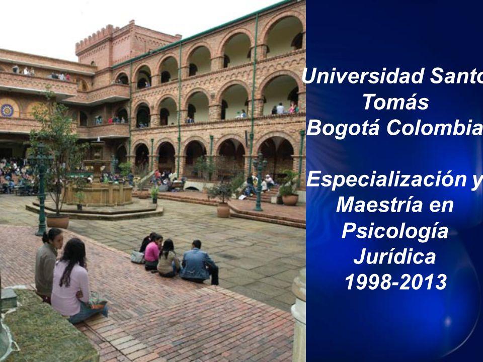 Universidad Santo Tomás Especialización y Maestría en Psicología