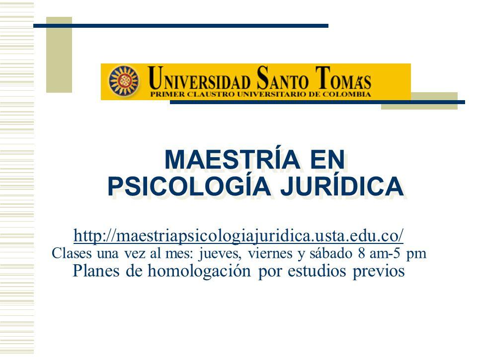 MAESTRÍA EN PSICOLOGÍA JURÍDICA