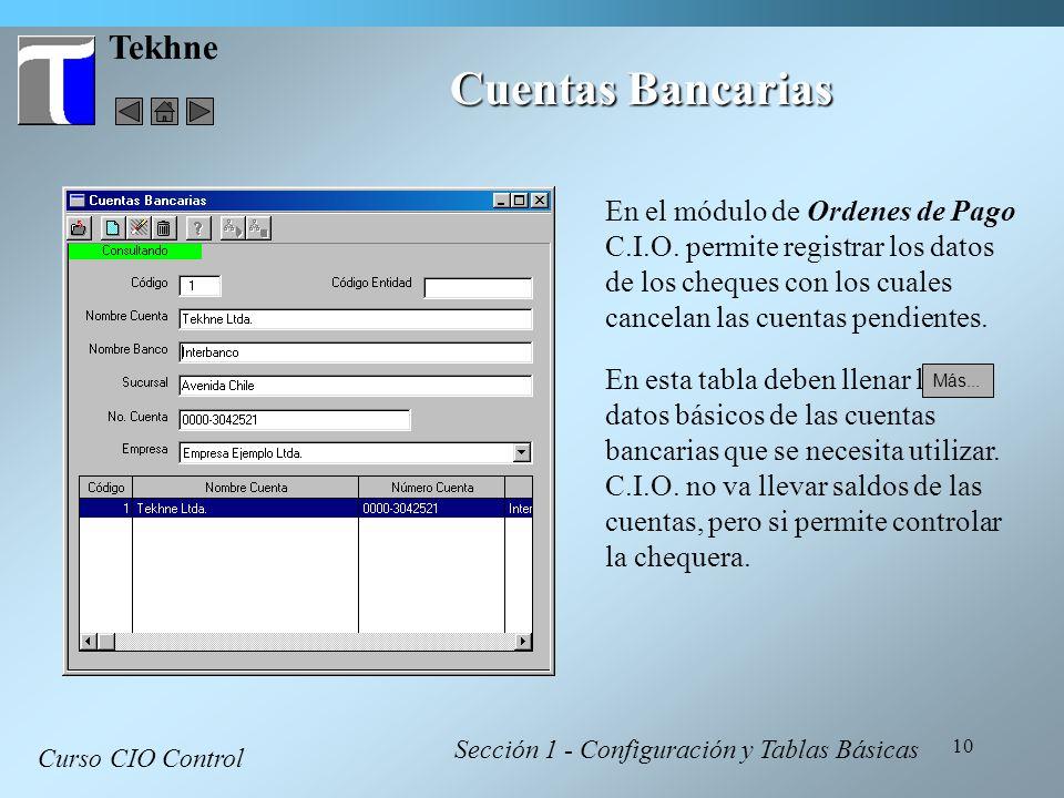 Cuentas Bancarias Tekhne