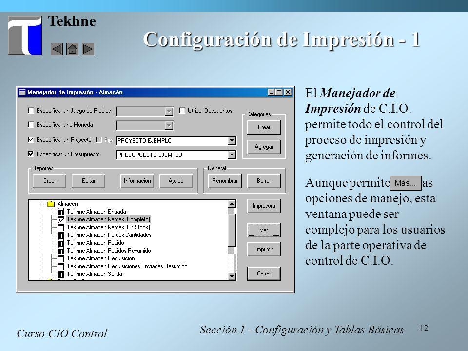 Configuración de Impresión - 1