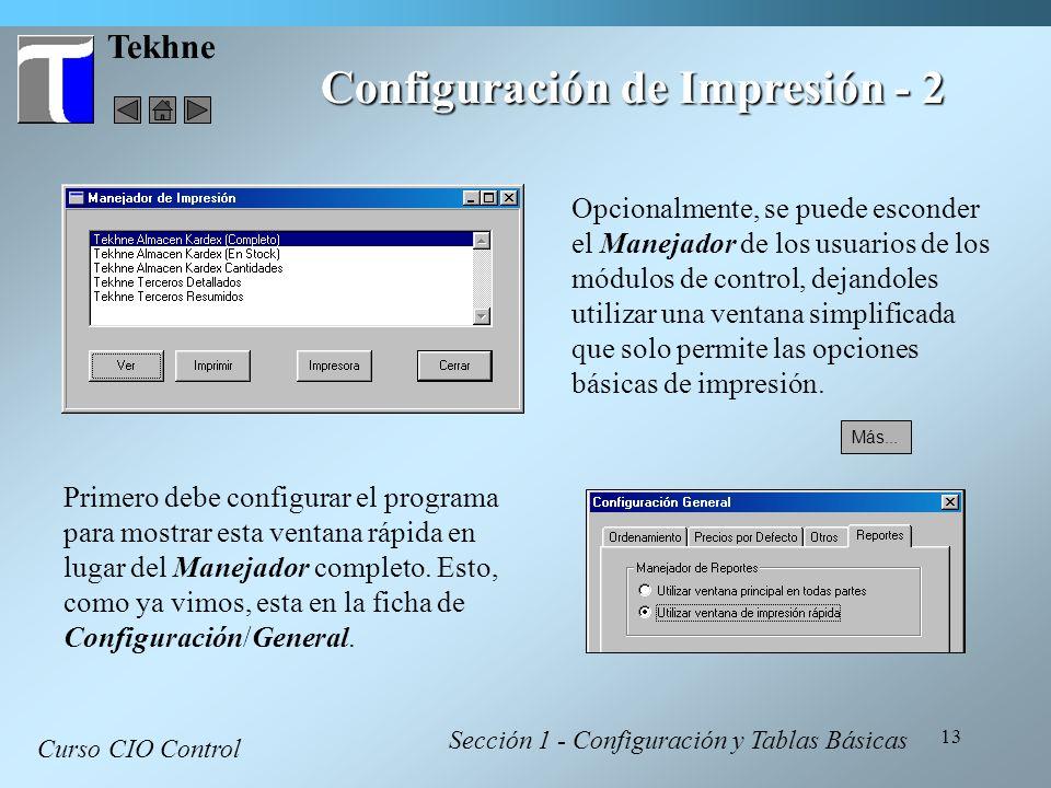 Configuración de Impresión - 2